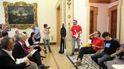 La conferenza stampa a Palazzo Belloni (foto Schicchi)