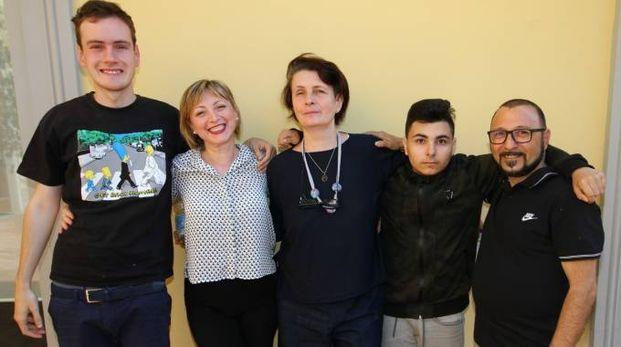 Fabrizio, Daniela Centanni, Fabrizia Rondelli, Tommy e il papà Nicola Giannasso