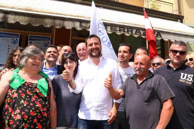 Matteo Salvini a Marliana (foto Goiorani)