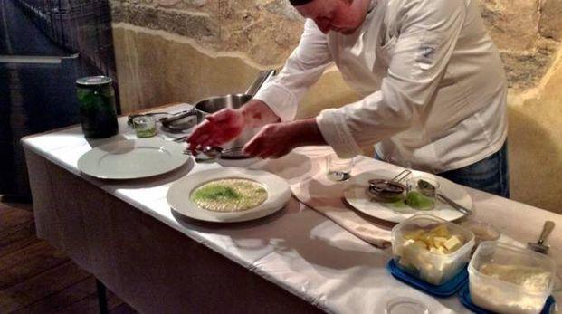 Una delle ultime lezioni, con lo chef Stefano Riva