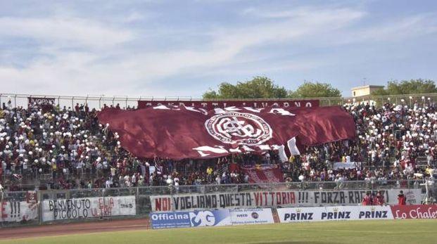 La 'Curva Nord' dei tifosi del Livorno