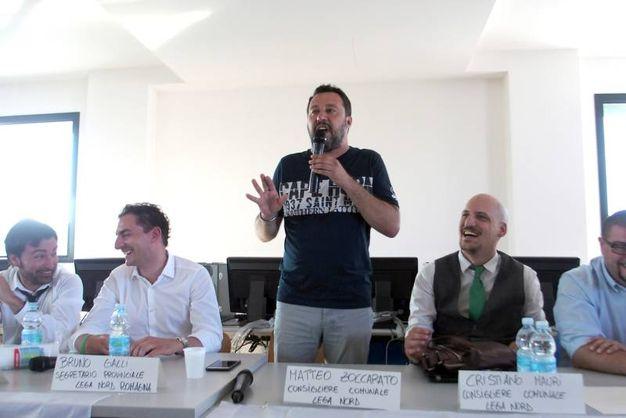 Matteo Salvini all'incontro sulle  microaree per i nomadi (Foto Petrangeli)