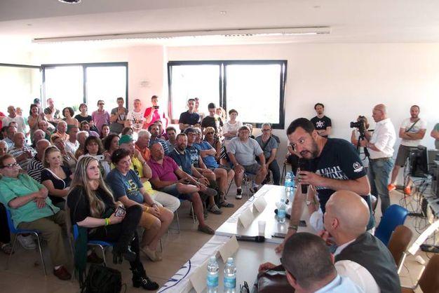 Matteo Salvini ha fatto tappa a Riccione e Morciano (Foto Petrangeli)