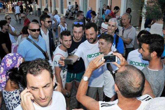 Il segretario federale della Lega Nord, Matteo Salvini ha parlato di microaree ed emergenza nomadi (Foto Petrangeli)