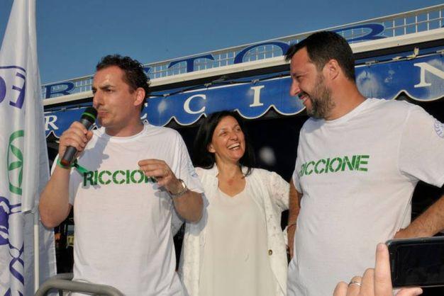 Matteo Salvini a Riccione (Foto Riccione)