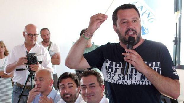 Matteo Salvini a Rimini (Foto Petrangeli)