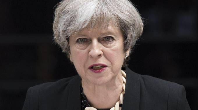 Attentato a Londra, la premier britannica Theresa May (Ansa)