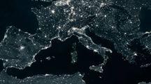Mar Mediterraneo visto dal satellite (Olycom)