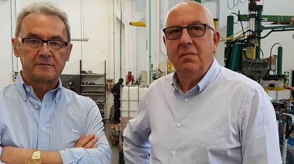 I fondatori, da sinistra Leo Girotti (ad) e Stefano Domenichini (presidente)