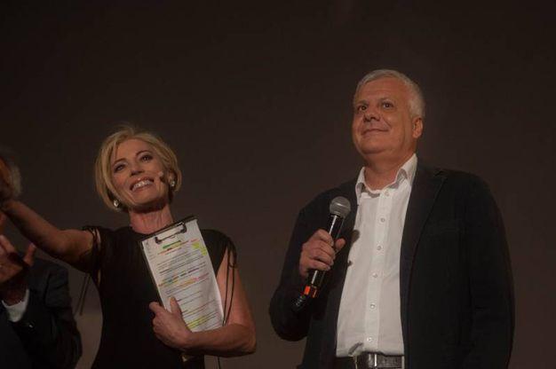 La giornalista Rai, Maria Concetta Mattei, e il ministro dell'Ambiente, Gian Luca Galletti (foto Schicchi)