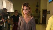 L'arrivo di Francesca Persi  in tribunale per il processo contro Fabrizio
