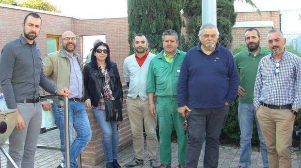 Dipendenti e rappresentanti sindacali della Teuco