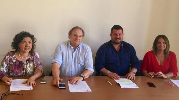 Da sinistra a destra: Lucia Venturi, Fabrizio Boldrini, Luca Agresti, Mirella Milli