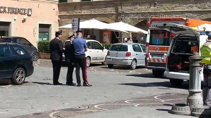 Castelfranco di Sopra (Arezzo), il luogo della tragedia - Foto Ansa