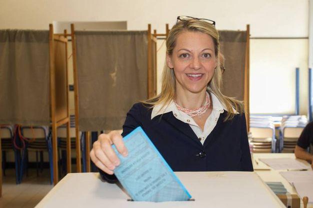 Parma, la candidata sindaco Lega Forza Italia Cavandoli (Lapresse)
