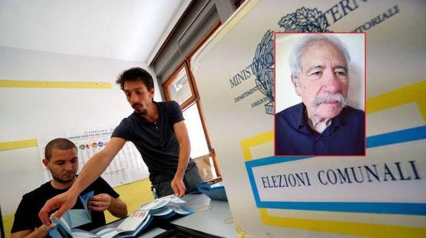 Nel riquadro il sindaco Maurizio Colozza
