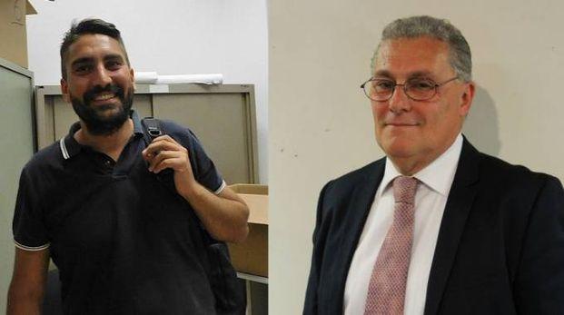 Il sindaco di Comacchio Marco Fabbri (a sinistra) e quello di Terre del Reno Roberto Lodi