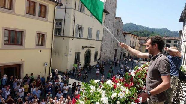 Il sindaco Del Dotto festeggia la vittoria