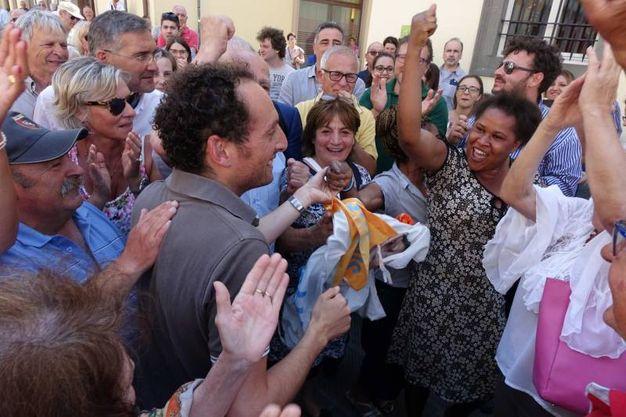 Del Dotto festeggia la vittoria (Umicini)