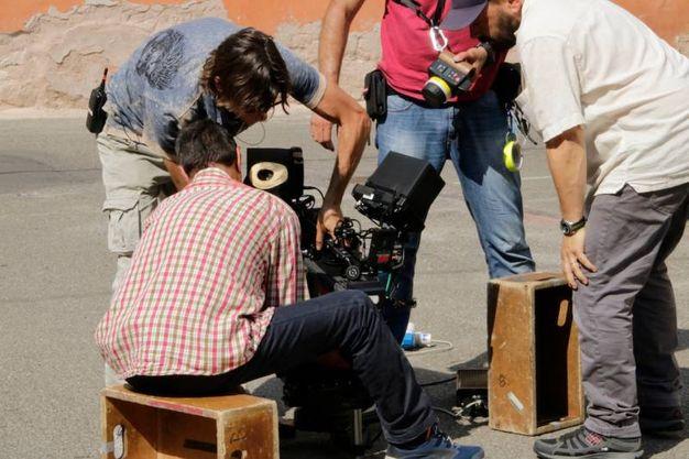 Sul set (foto Parmeggiani)