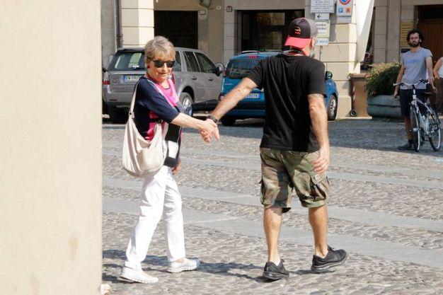 Mamma Rina accompagnata dallo staff da Luciano, per un breve saluto (foto Parmeggiani)