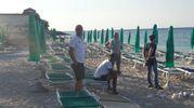 Il tratto di spiaggia tra la Torre e lo stabilimento di Paolo Bonetti a Portonovo è rimasto chiuso per una giornata