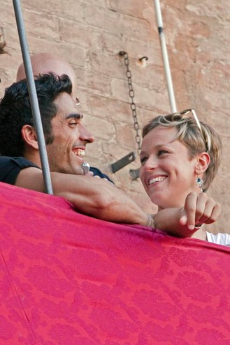 Con Filippo Magnini al palio di Siena