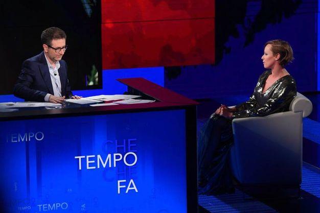 In tv con Fabio Fazio (Lapresse)