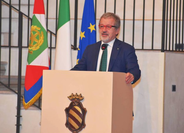 Il governatore Roberto Maroni (Torres)
