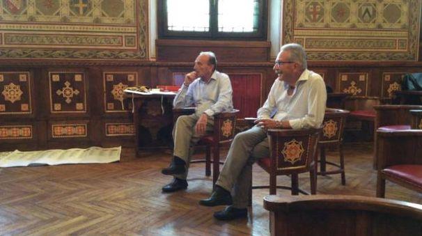 I due candidati Alberto Centinaio e Gianbattista Fratus