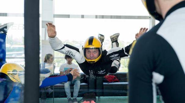 Andrea Pacini prova il brivido dell'Aero Gravity