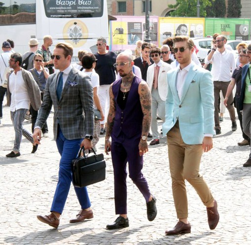 Visitatori stravaganti di Pitti (New Press Photo)