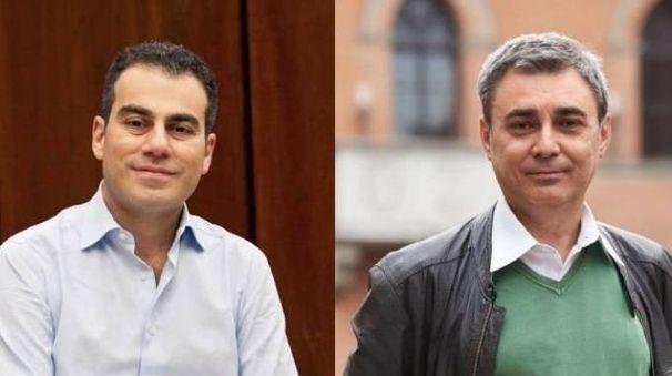 Si accende la sfida tra Pierini (a sinistra) e Mazzanti in vista del ballottaggio