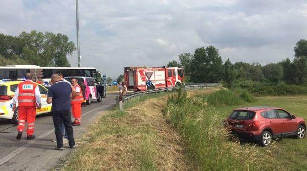 L'incidente (foto Zeppilli)
