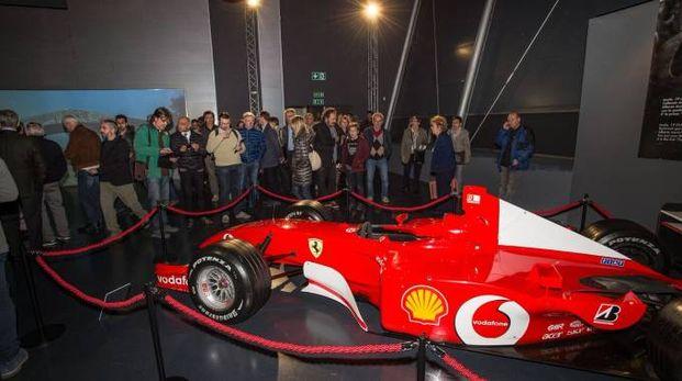 Una delle Ferrari esposte in Autodromo