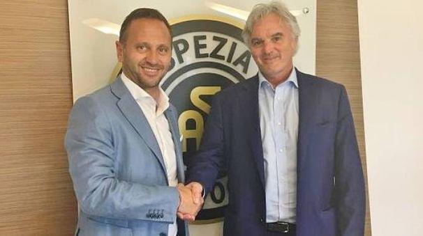 Il mister Fabio Gallo con il presidente Stefano Chisoli