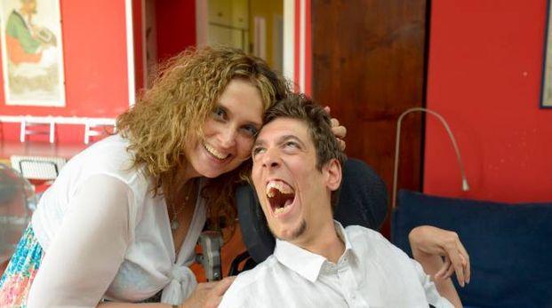 Alessandra Casula con il figlio Federico