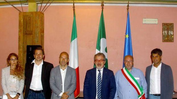 Roberto Maroni con i sindaci