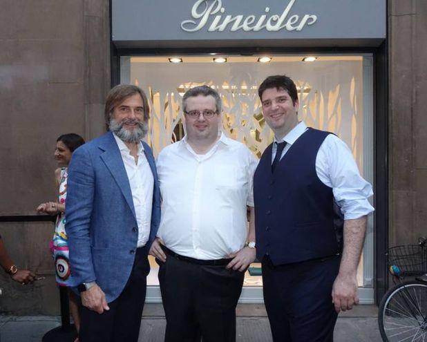 Da sinistra Andrea Cavicchi, Ferruccio e Lorenzo Rovagnati (foto Gianluca Moggi/New Pressphoto)