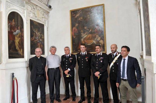 La cerimonia per la restituzione del quadro (Canali)