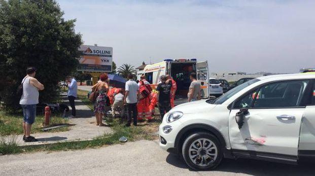 L'incidente a Sant'Elpidio a Mare (Foto Zeppilli)