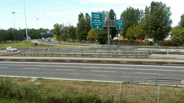 A13, chiusa entrata Ferrara sud in direzione Bologna (Foto d'archivio Fotofn)