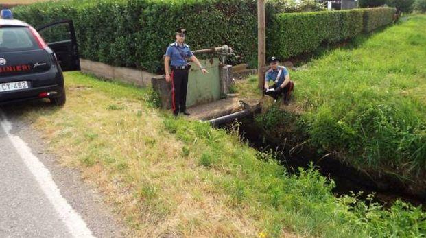 L'involucro con la droga trovato dai carabinieri