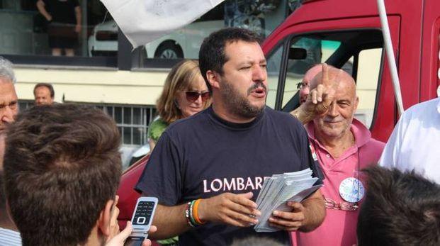 Al mercato ha fatto tappa anche Matteo Salvini