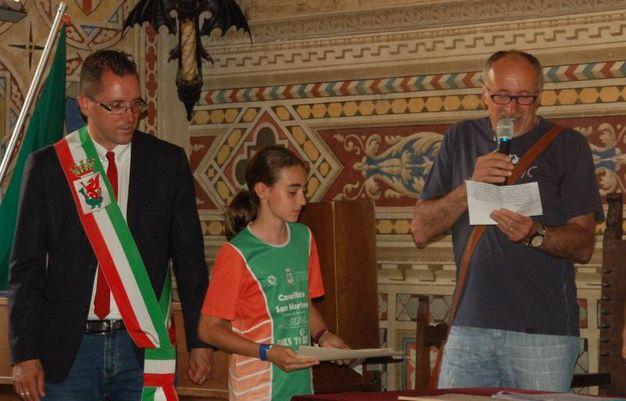 Premiazione degli atleti e delle associazioni a palazzo dei Priori
