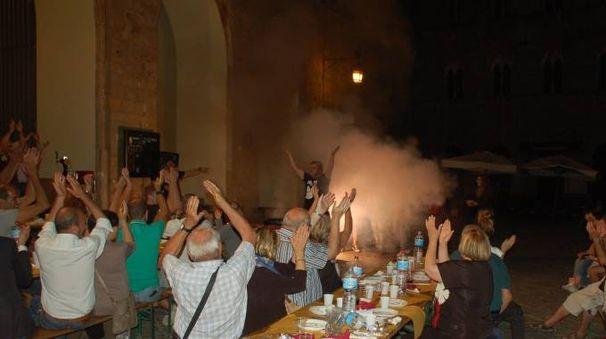 La festa della Volterrana 2016 in piazza dei Priori