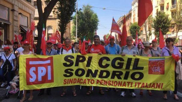 Manifestazione a Roma contro i voucher (Orlandi)