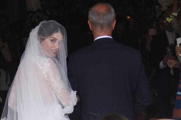 Martina Rubini entra in chiesa (Foto Schicchi)