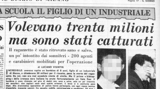 La pagina de Il Giorno del 1963 dedicata all'evento
