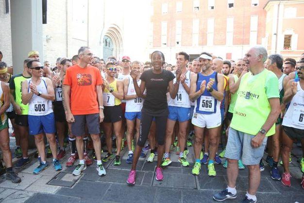 Fra i partecipanti della corsa di San Giovanni anche Fiona May (foto Ravaglia)